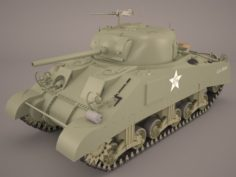 US World War II Medium Tank M4 Sherman 2 3D Model