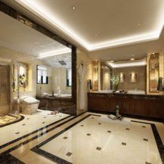 Bathroom design complete model 158 3D Model