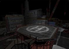 Oil station HIGH POLY 3D Model