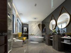 Bathroom design complete model 31 3D Model