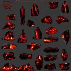 Lava rocks 3D Model
