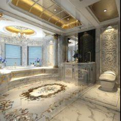 Bathroom design complete model 163 3D Model