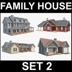 Family House Set2 3D Model