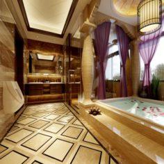 Family style bathroom toilet 1818 3D Model