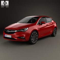 Opel Astra K with HQ interior 2016 3D Model