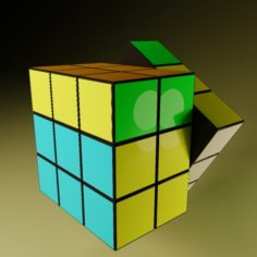 Cube rubik animated Free 3D Model