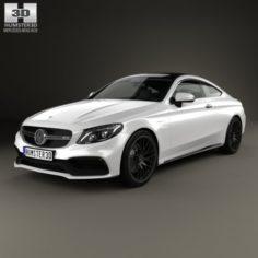 Mercedes-Benz C-lass AMG Coupe 2015 3D Model