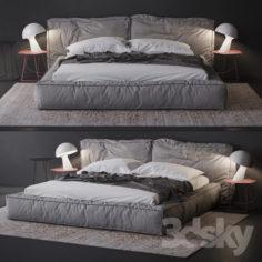 bonaldo fluff bed                                      3D Model