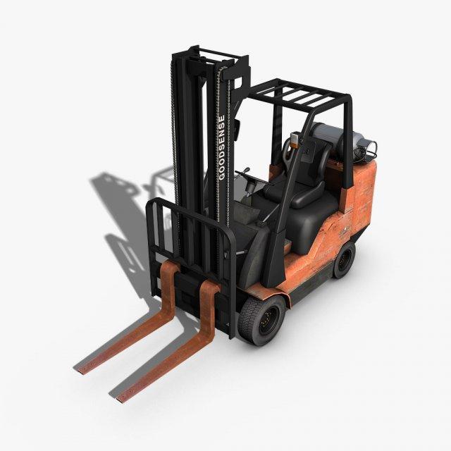Forklift 3D Model