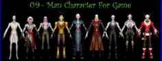 9-Man Character For Game C 3D Model
