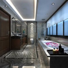 Bathroom design complete model 181 3D Model