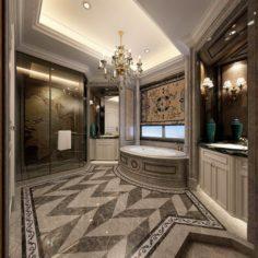 Bathroom design complete model 143 3D Model