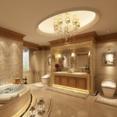 Bathroom design complete model 162 3D Model