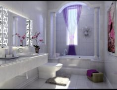 Family fashion sanitary toilet 1810 3D Model