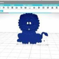Ready to Print Model of a Lion 3D Print Model