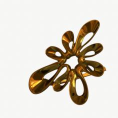 Earring Gold 3D Model