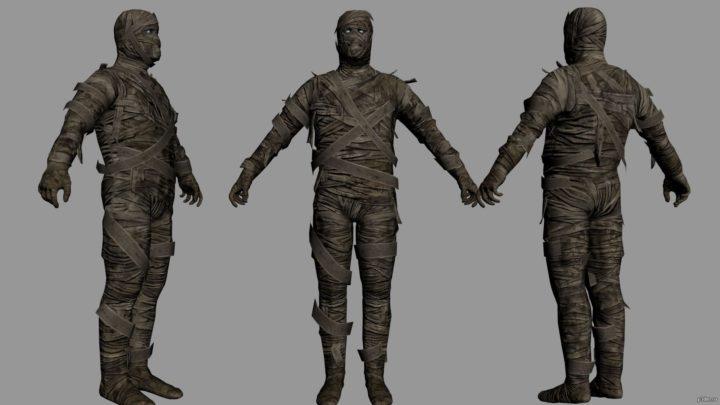 Egypt mummy 3D Model