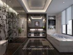 Bathroom design complete model 114 3D Model