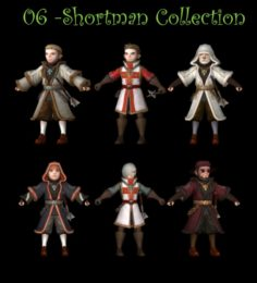 6 Shortman Collection 3D Model