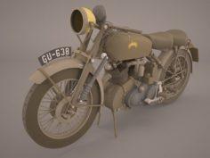 Vincent Black Shadow 1949 3D Model