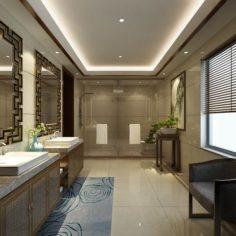 Bathroom design complete model 138 3D Model
