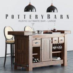 Pottery Barn RUSTIC BAR 3D Model