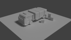 Space colony cargo forwarder 3D Model