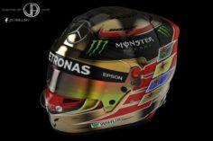 Helmet Bell HP7 2017 – Hamilton Abu Dhabi 2017 texture 3D Model