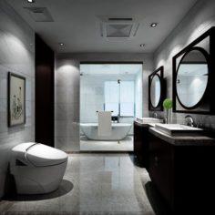 Bathroom design complete model 139 3D Model