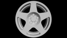 Fifteen52 Tarmac Wheel Low Poly 3D Model