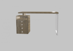 Desk – very low poly – game ready 3D Model