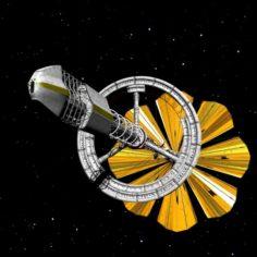 Solar Sail Ship 3D Model