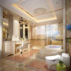 Bathroom design complete model 130 3D Model
