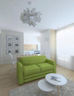 Small apartment living room 3D Model
