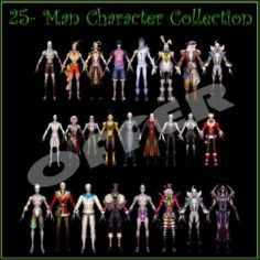 25-Man Character Collection 3D Model