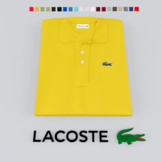 Lacoste polo T-shirt and logo 3D Model