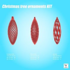 Christmas tree ornaments KIT 3D Print Model
