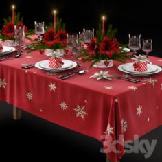 Christmas Tableware                                      3D Model