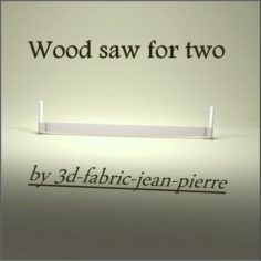 Wood saw for two 3D Print Model