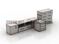 Coleccion Alexandra TRAVELER Commode 3D Collection