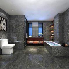 Bathroom design complete model 182 3D Model