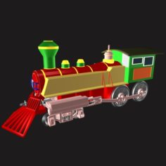 Toy Train Engine 02 3D Model