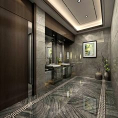 Bathroom design complete model 178 3D Model