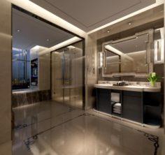 Bathroom design complete model 119 3D Model