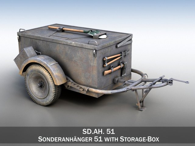 SD AH 51 – Trailer 3D Model