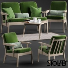 Stolab Oxford chair and sofa 3D Model