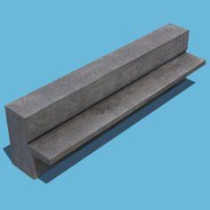 Concrete Bench 3D Model