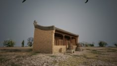 A small house of a civilian house 3D Model