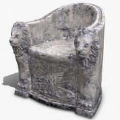 3D Roman Stone Chair High Poly 3D Model