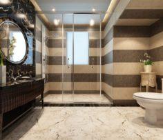 Family style bathroom toilet 1820 3D Model